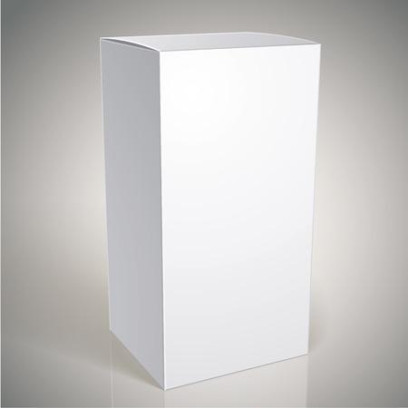 multiply: Caja del paquete blanco realista para los productos, ponga su dise�o sobre el paquete en modo multiplicar, ilustraci�n vectorial eps 8.