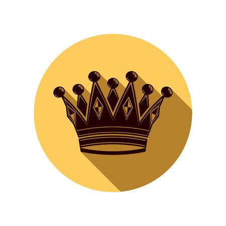regal: Royal design element, regal icon. Stylish majestic 3d crown, luxury coronet illustration. Imperial three-dimensional symbol. Illustration