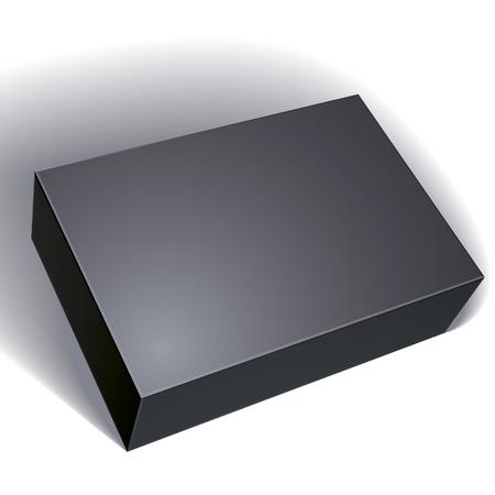 Package boîte noire conception isolé sur fond blanc, modèle pour votre modèle de colis, mettez votre image sur la boîte, illustration vectorielle EPS 8. Banque d'images - 36018983