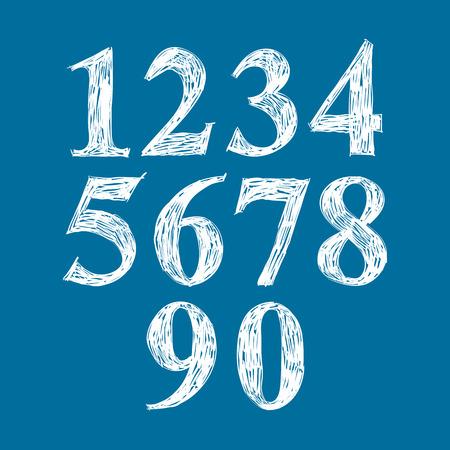 numeration: Calligraphic numbers, vector numeration. Illustration