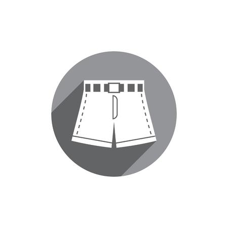 poliester: Aislado Shorts icono vector.