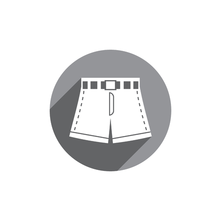 activewear: Shorts vector icon isolated.