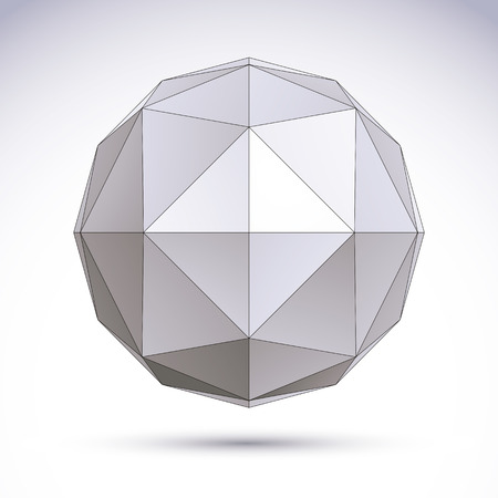 3D origami abstract object, vector abstract design element, clear eps 8. Illustration