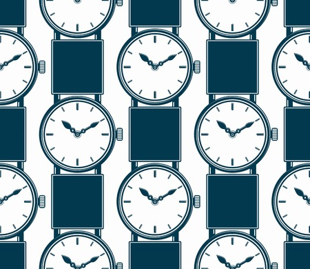 hour hand: Seamless background with stylish wristwatches, elegant backdrop with dial and an hour hand. Time management.