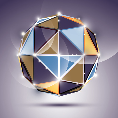 mirror ball: Abstract 3D facet festive sphere with sparkles, bright twinkle mirror ball created from triangles, disco theme.