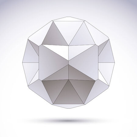 3d object: Abstract vector 3D object.