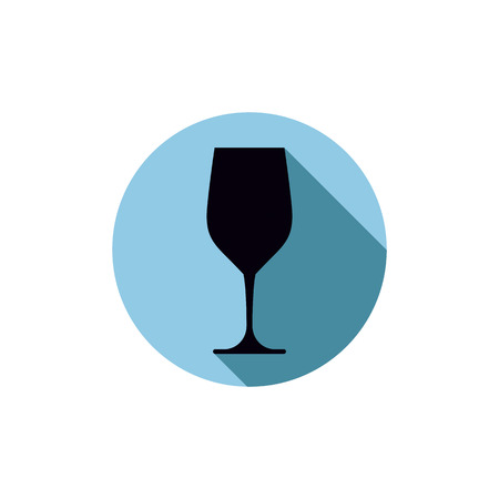 bocal: Sophisticated wine goblet, stylish alcohol theme illustration. Classic wineglass, romantic rendezvous idea.