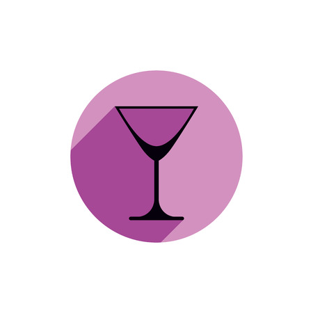 bocal: Classic empty martini glass, alcohol and entertainment theme illustration. Party lifestyle graphic goblet isolated.