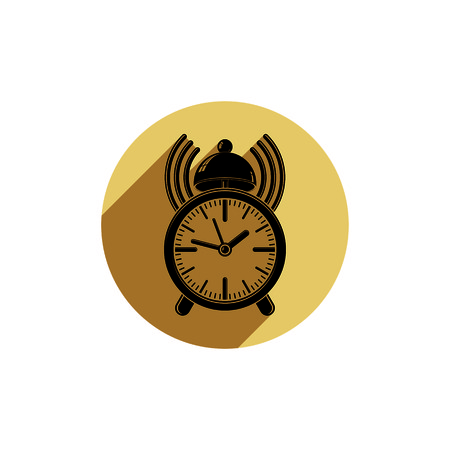 alarmclock: Alarm-clock 3d symbol, best for use in graphic design. Call the waiter concept. Time management theme.