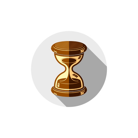 conceptual symbol: Old-fashioned simple 3d hourglass, time management business icon. Time is running out conceptual symbol.