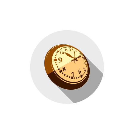 symbolic: 3d pocket watch, graphic illustration. Three-dimensional timer, classic stopwatch. Time management symbolic icon.
