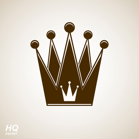 Vector vintage crown, luxury ornate coronet illustration. Royal luxury design element, decorative regal icon. Illustration
