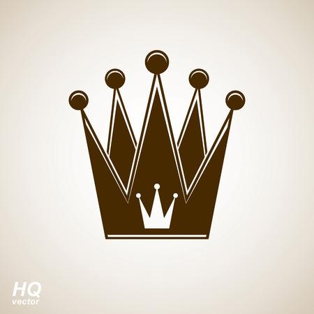 coronet: Vector vintage crown, luxury ornate coronet illustration. Royal luxury design element, decorative regal icon. Illustration