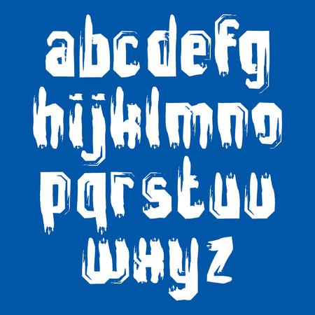 verb: Vector letras min�sculas del alfabeto conjunto, blanco de la escritura a mano, rozaron min�sculas.