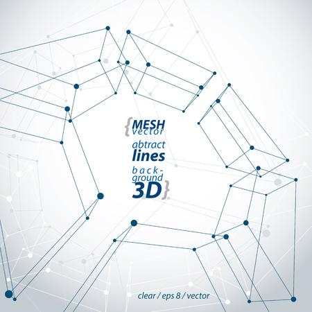 Sammlung Von Dreidimensionalen Tech Quadrat Bau Symbole Mit ...