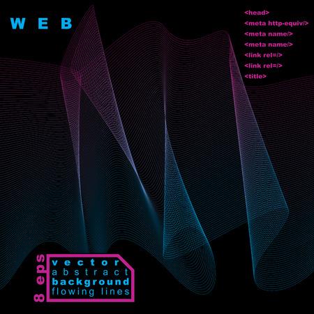 is slender: Slender 3d textile motif background Illustration