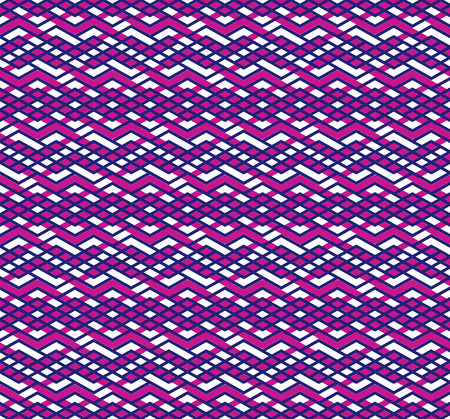 Bright abstract seamless pattern with interweave lines. Vector colorful wallpaper with stripes. Purple endless decorative background. Vector