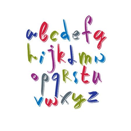verb: Gui�n vectorial tipo de letra, letras del alfabeto vector. Vectores