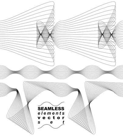 Elegant flowing lines vector background Vector