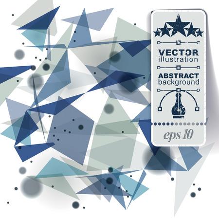 distort: Geometric vector abstract 3D complicated op art backdrop