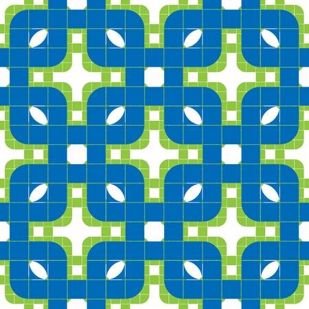 extravagant: Geometric tiles seamless pattern, vector background.