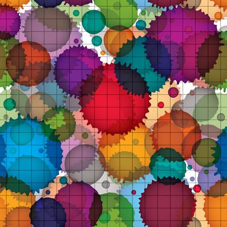 Colorful splattered web design repeat pattern, overlay art ink blob, paintbrush drawing.