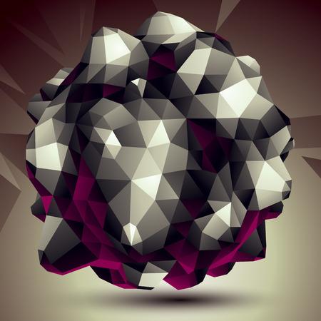 geometric shape: Objeto vectorial monocromo asim�trica Resumen construye a partir de diferentes elementos, complicada forma geom�trica.