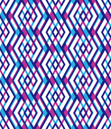interweave: Bright abstract seamless pattern with interweave lines. Vector psychedelic wallpaper with stripes. Endless decorative background, unusual tracery. Illustration