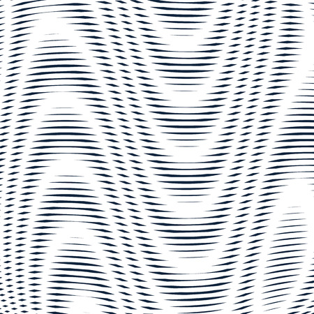 Geometric background created with moire technique. Noisy contrast lined tiling with visual effects.