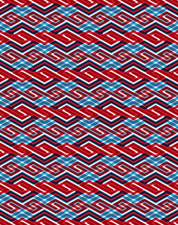 entwine: Geometric seamless pattern with transparent impose figures, endless ethnic vector ornamental background. Never-ending bright entwine decorative composition.