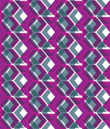 visual effect: Purple stylized symmetric endless pattern, transparent continuous creative artificial composition, geometric motif background with overlapping figures. Visual effect, op art.