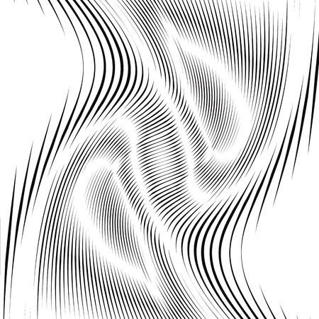 Moiré, op art fond. Hypnotic toile de fond avec des lignes noires géométriques. Résumé de carrelage. Banque d'images - 37803626