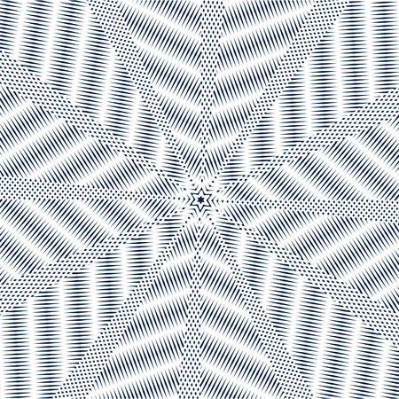 meditative: Moire pattern, monochrome background with trance effect. Optical illusion, creative black and white graphic backdrop.