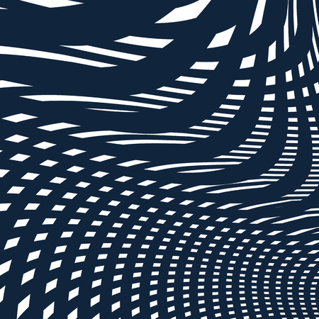 moire: Moire pattern, op art background. Hypnotic backdrop with geometric black lines. Abstract tiling. Illustration