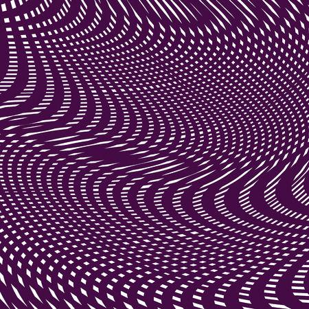 Black and white moire lines, striped  psychedelic background.  Op art style contrast pattern.