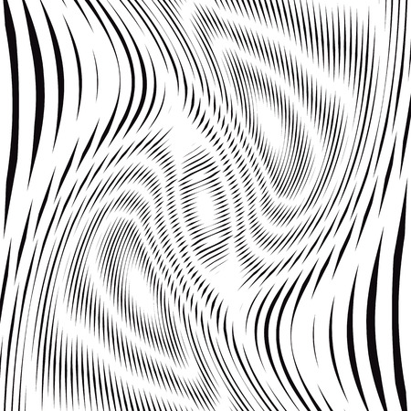 white backgrounds: Optical illusion, creative black and white graphic moire backdrop. Decorative lined hypnotic contrast background.