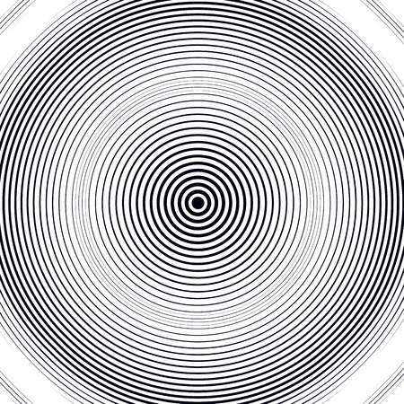 illusion: Optical illusion, moire background, abstract lined monochrome tiling. Unusual geometric pattern with visual effects. Illustration
