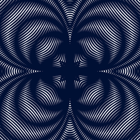 moire: Black and white moire lines, striped  psychedelic background.  Op art style contrast pattern.