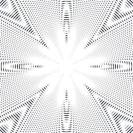 meditative: Black and white moire lines, striped  psychedelic background.  Op art style contrast pattern.
