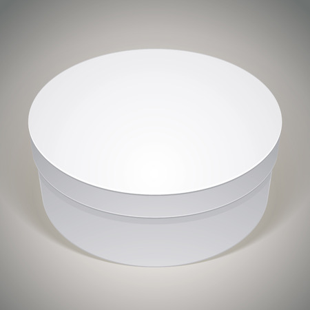 multiply: Vector blank round box, template for your package design, put your image over the pack in multiply mode,
