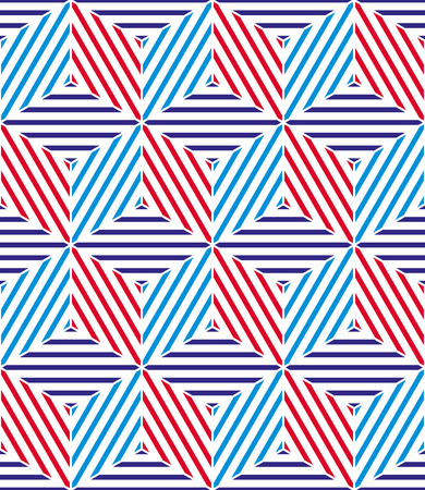 Retro geometric seamless background Vector