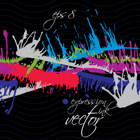 splattered: Bright contrast splattered web design repeat pattern, art ink blob, paintbrush drawing. Smudge graffiti colorful seamless background.