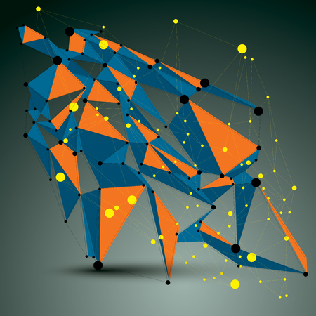 apex: Vector complicated 3d figure, modern digital technology style form. Abstract lattice futuristic design.