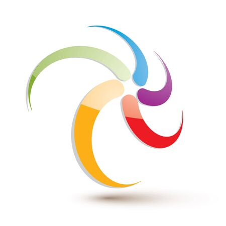 Looping arrows vector abstract symbol, conceptual special made 3d icon. Vector