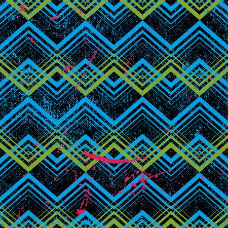 dirt texture: Disegno geometrico Vintage con trama sporcizia, vettoriale vecchio sfondo stile.