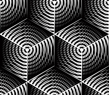 entwine: Contemporary abstract vector endless background, three-dimensional repeated pattern. Decorative graphic entwine ornament.