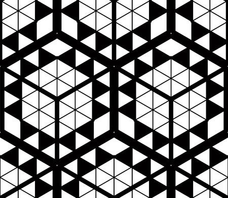 現代の抽象的なベクトル無限の背景、3次元パターンの繰り返し。装飾的なグラフィックは、飾りを編みます。  イラスト・ベクター素材