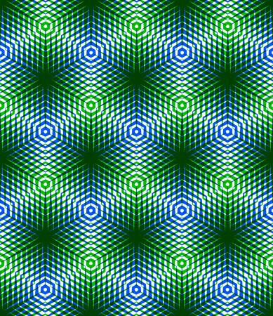 entwine: Graphic seamless pattern astratto, geometrico regolare sfondo colorato 3d. Contrasto ornamento, fondale trasparente. Vettoriali