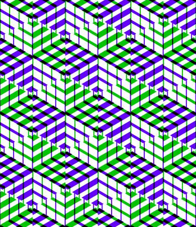 entwine: Brillante simmetrica seamless con figure intrecciano. Composizione geometrica continuo con effetti di trasparenza, per l'uso in graphic design.