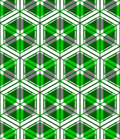 охватывающей: Геометрическая бесшовный узор, бесконечные красочные вектор прозрачным регулярно фон. Аннотация покрытие с 3D-фигур наложить. Иллюстрация